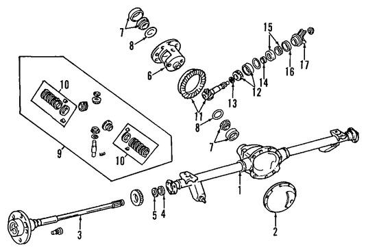 Rodamiento Piñón de Diferencial para Jeep Grand Cherokee 2000