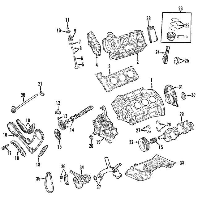 Imagen de Culata del motor Original para Jeep Grand Cherokee 2007 Marca CHRYSLER Número de Parte 68055774AA