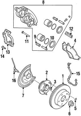 Sensor de Velocidad Freno ABS Original para Dodge Ram 1500