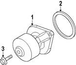 Imagen de Bomba de agua del motor Original para Dodge Ram 2500 2009 2010 Dodge Ram 3500 2009 2010 Marca CHRYSLER Número de Parte 68003402AB