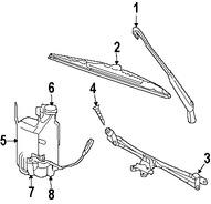 Imagen de Depósito del líquido de limpia parabrisa Original para Dodge Ram 2500 2009 Dodge Ram 3500 2009 Marca CHRYSLER Número de Parte 55277374AA