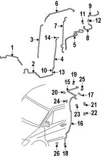 Imagen de Manguera de Refrigerante Aire Acondicionado Original para Dodge Sprinter 2500 2007 2008 Dodge Sprinter 3500 2007 2008 Marca CHRYSLER Número de Parte 68012784AA