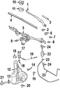 Imagen de Motor de Limpiaparabrisas Original para Dodge Sprinter 2500 2007 2008 Dodge Sprinter 3500 2007 2008 Marca CHRYSLER Número de Parte 68017435AA