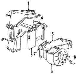 Imagen de Nucleo del evaporador del aire acondicionado Original para Dodge B1500 1995 Dodge B2500 1995 Dodge B3500 1995 Marca CHRYSLER Número de Parte 4798625