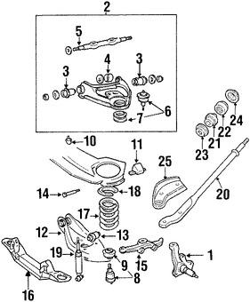 Imagen de Amortiguador Original para Dodge B350 1994 Dodge B3500 1995 1996 1997 Marca CHRYSLER Número de Parte 4740243