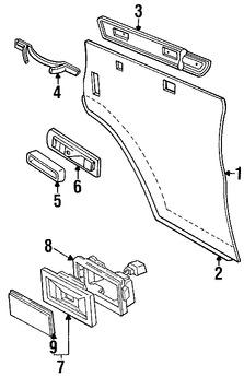 Imagen de Panel Interior de Puerta Original para Dodge B1500 1995 Dodge B2500 1995 Dodge B3500 1995 Marca CHRYSLER Número de Parte 5EP98RB7