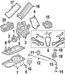 Sello del cigueñal del motor Original para Dodge Chrysler