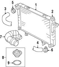 Imagen de Termostato del refrigerante del motor Original para Dodge Ram 2500 2007 2008 Dodge Ram 3500 2007 2008 Marca CHRYSLER Número de Parte 68005464AB