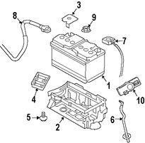 Imagen de Batería Original para Dodge Challenger 2011 Marca CHRYSLER Número de Parte 4608719AE