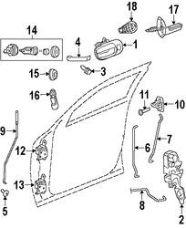 Imagen de Control Remoto Inalámbrico Puerta y Alarma Original para Dodge Challenger 2009 2010 Dodge Charger 2009 Marca CHRYSLER Número de Parte 5026886AK