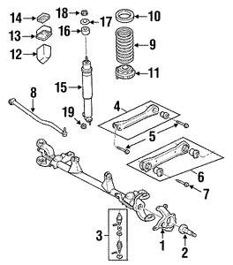 Brazo de Control de suspensión para Jeep Grand Cherokee 2001