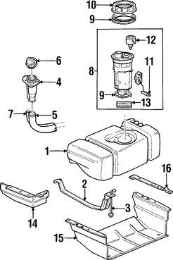 Tapa del tanque de combustible para autos Jeep