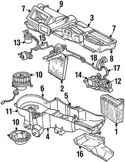Calefaccion, core y valvulas para Jeep Liberty 2003