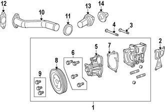 Termostato del refrigerante del motor Original para Jeep