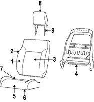 Imagen de Almohadilla Calentadora de Asiento Original para Jeep Liberty 2008 Dodge Nitro 2010 2011 Marca CHRYSLER Número de Parte 4610238AA