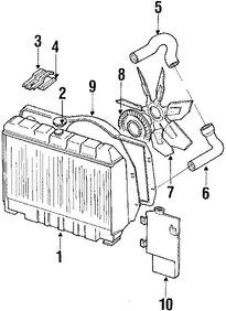 Imagen de Radiador Original para Jeep Scrambler 1985 Jeep CJ7 1985 1986 Marca CHRYSLER Número de Parte J5362165