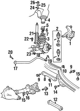 Tornillo de Brazo de Control de Suspension Original para