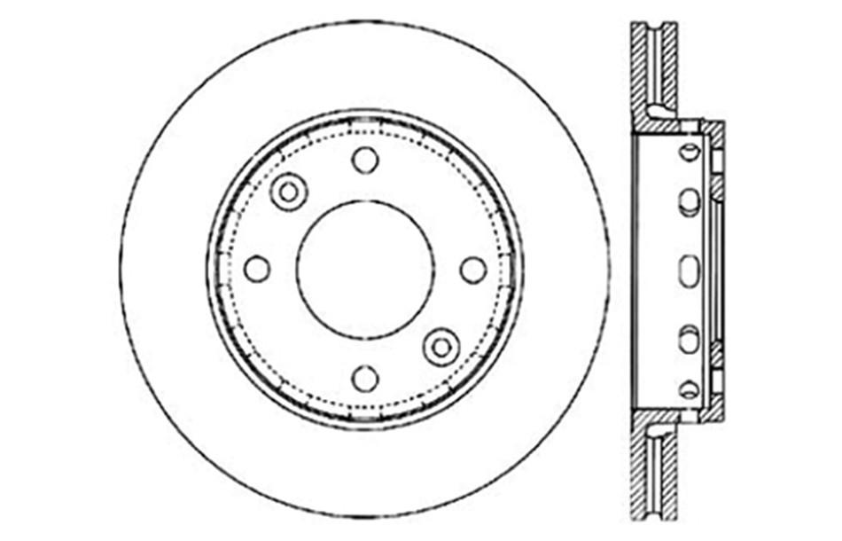 Imagen de Rotor disco de freno para Kia Sephia 2001 Kia Spectra 2001 2002 2003 Marca C-TEK BY CENTRIC Número de Parte #121.50005