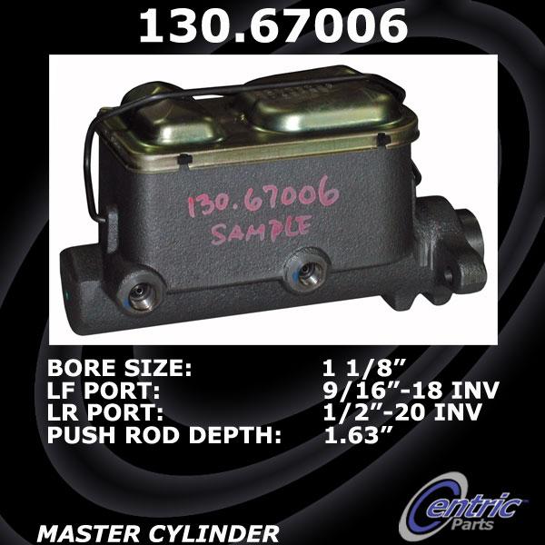 Imagen de Cilindro Maestro de Freno Estandar para Dodge D250 1992 Marca C-TEK Número de Parte 131.67006