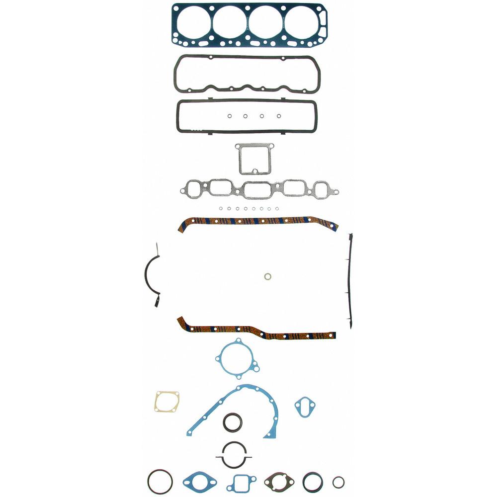 Imagen de Juego Completo Empacaduras del Motor para Chevrolet Chevy II 1965 Chevrolet G10 Van 1964 Marca FELPRO Número de Parte FS 8530 PT-1