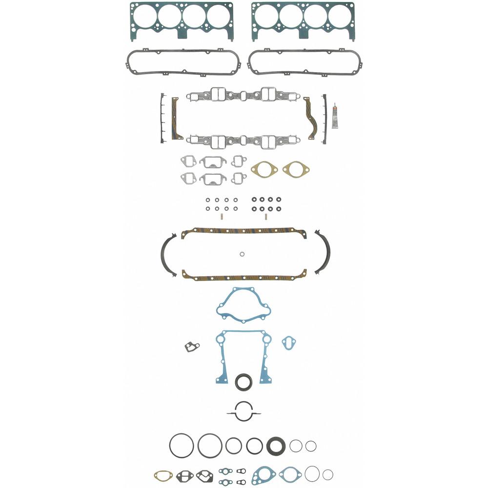 Imagen de Juego Completo Empacaduras del Motor para Chrysler Dodge Plymouth Bristol Marca FELPRO Número de Parte FS 8553 PT-9