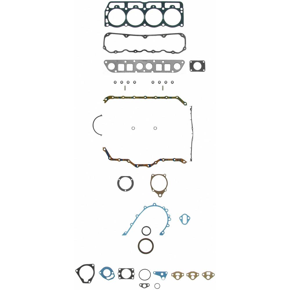 Imagen de Juego Completo Empacaduras del Motor para Jeep Wrangler 1987 Marca FELPRO Número de Parte FS 9196 PT-1