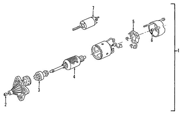 Imagen de Solenoide de Encendido Original para Ford Aspire 1994 1995 1996 1997 Marca FORD Número de Parte F4BZ11390A