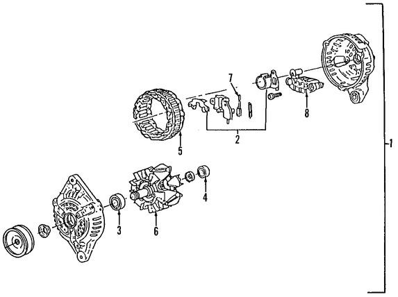 Imagen de Regulador de Voltaje Original para Ford Aspire 1994 1995 1996 1997 Marca FORD Número de Parte F4BZ10316A