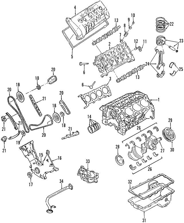Imagen de Empacadura de la culata Original para Ford Mustang 2003 2004 Marca FORD Número de Parte 2R3Z6051AA
