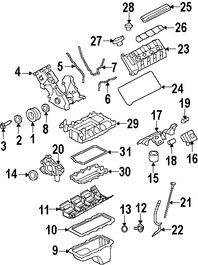 Imagen de Tapa de Valvula del Motor Original para Ford Mustang 2007 2008 2009 2010 Marca FORD Número de Parte 7R3Z6582NA