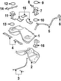 Imagen de Tapa del tanque de combustible Original para Ford Mustang 2005 2006 2007 Marca FORD Número de Parte 6R3Z9030A