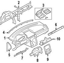 Imagen de Cobertura Panel de Instrumentos Original para Ford Five Hundred 2006 Marca FORD Número de Parte 5G1Z7404302AAA
