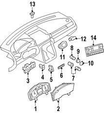 Imagen de Panel de Instrumentos Original para Ford Five Hundred 2006 2005 Marca FORD Número de Parte 6G1Z10849AC