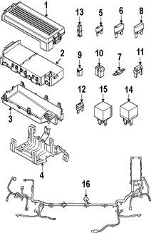 Imagen de Arnés de Cables del Motor Original para Ford Five Hundred 2006 Marca FORD Número de Parte 6G1Z14290AA