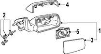 Imagen de Cubierta de Espejo Retrovisor Externo Original para Ford Focus 2008 2009 2010 2011 Marca FORD Número de Parte 8S4Z17D742AA