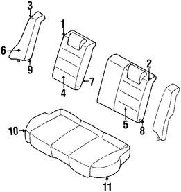 Imagen de Bastidor de Respaldo de Asiento Original para Ford Escort 1999 2000 1998 2001 Marca FORD Número de Parte F8CZ5466893AAC