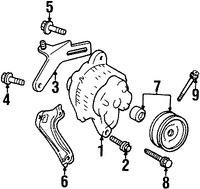Imagen de Polea del Alternador Original para Ford Aspire 1994 1995 1996 1997 Marca FORD Número de Parte F4BZ10344A