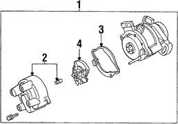 Imagen de Tapa del Distribuidor Original para Ford Aspire 1994 1995 1996 1997 Marca FORD Número de Parte F4BZ12106A