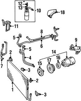 Compresor de Aire Acondicionado, kits y partes para Ford