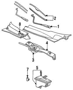 motor y bomba de agua del limpiaparabrisas para ford thunderbird 1992. Black Bedroom Furniture Sets. Home Design Ideas