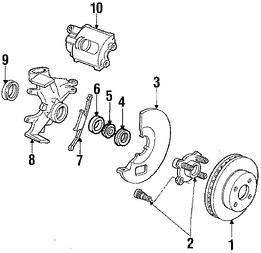 Rodaje de Rueda Original para Ford Escort Ford EXP Ford
