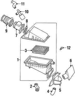 filtro de aire original para ford contour mercury mystique mercury cougar marca ford n mero de. Black Bedroom Furniture Sets. Home Design Ideas