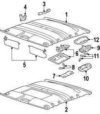 Imagen de Barra Interior para agarrarse Original para Ford Freestyle 2006 2007 Ford Five Hundred 2007 Mercury Montego 2007 Marca FORD Número de Parte 7F9Z7431406AD