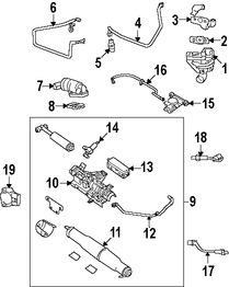 Imagen de Manguera de retroalimentación de presión EGR Original para Ford F-150 2005 2006 2007 2008 Marca FORD Número de Parte 5L3Z9E498AA