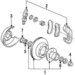 Imagen de Rotor del Disco de freno Original para Ford F-350 1997 1995 1996 Ford F-250 1995 Marca FORD Número de Parte F7TZ1102CA