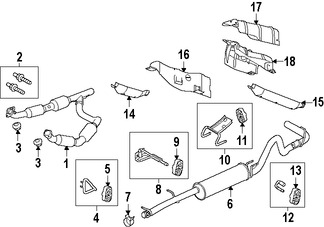 Imagen de Silenciador Original para Ford E-150 2008 Ford E-250 2008 Marca FORD Número de Parte 7C2Z5230B