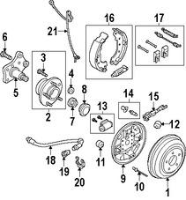 Imagen de Sensor de Velocidad Freno ABS Original para Ford  2010 2011 2012 2013 Marca FORD Número de Parte 2T1Z2C204A