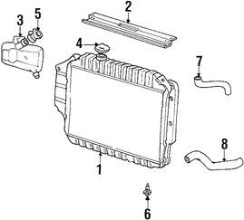 Imagen de Manguera de Refrigerante del Radiador Original para Ford E-350 Club Wagon 2004 Ford E-350 Super Duty 2004 Marca FORD Número de Parte 3C2Z8286EA