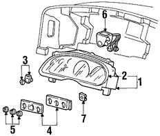 Imagen de Interruptor de faro Original para Ford Excursion 2000 2001 Marca FORD Número de Parte 1C7Z11654DAA