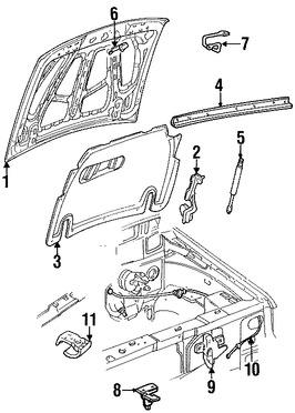 Soporte de Elevación Puerta Trasera para Ford Explorer 2003